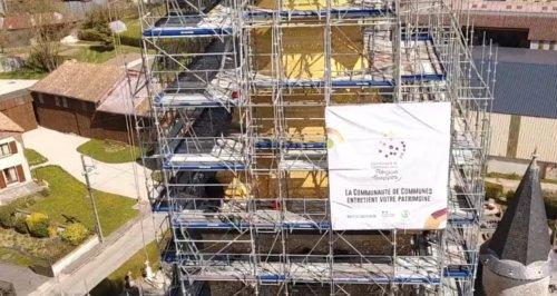 Renovation de la toiture de l'église de Somme-Suippe